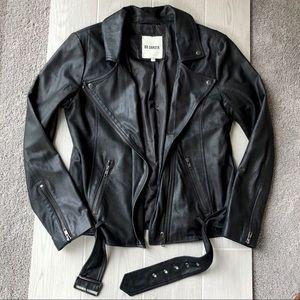 BB Dakota genuine leather black moto style jacket